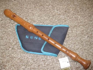 Kung cherry wood treble recorder