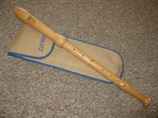 Zamra maple tenor recorder